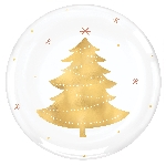 Plato Plastic Tree Hot Stamped Plastic Coupe Plates 19cm