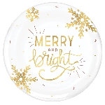 Bandeja Merry and Bright Hot Stamped Round 35cm