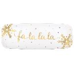 Bandeja Fa La La La Hot Stamped Long 45cm x 16cm