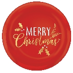 Bandeja Merry Christmas Round Plastic Hot Stamped Coupe 35cm