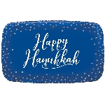 Bandeja Hanukkah Celebrations Hot Stamped Rectangular 46cm x 28cm