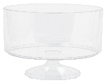 Bowl Medium Clear Plastic Trifle Containers 19cm