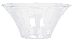 Bowl Clear Large Plastic Flared Bowl 23.3cm dia