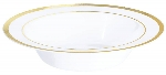 Bowl Premium White Plastic Bowls Gold Trim 340ml