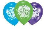 6 globos latex Teenage Mutant Ninja Turtles 22.8 cm/9'' Oferta