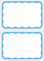 Etiquetas Nombre:Azul BORDER