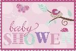 INVITACIONES: TWEET BABY PINK con sticker (En Stock)