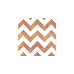 Servilletas Rose Gold Chevron Premium Hot Stamp BeverEdad Napkins 25cm
