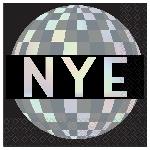 Servilletas pequeñas Disco Ball Drop Iridescent 25cm