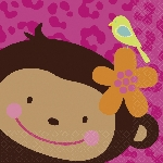 Servilletas Berv.:MONKEY LOVE