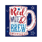 SERV/PEQ PATRIOTIC PR - RED WHT BREW