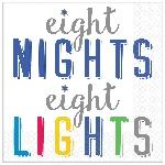 Servilletas pequeñas Premium 8 Nights, 8 Lights 25cm