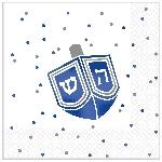 Servilletas pequeñas Premium Happy Hanukkah Hot Stamped 25cm
