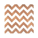 Servilletas Rose Gold Chevron Hot Stamp Premium Luncheon Napkins 33cm