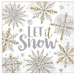 Servilletas medianas Shining Snow eon 33cm