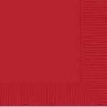 Servilletas Medianas 33cm X 33cm 20 Rojo  - 2PLY  **Stock