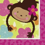 16 Servilletas Monkey Love 33 x 33 cm