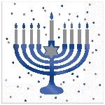 Servilletas medianas Happy Hanukkah Hot Stamped eon 33cm