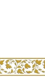 SERVILLETAS PREMIUM GT - Blanco WITH GOLD T