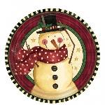 plato 18cm Cozy Snowman Plates 17.7cm