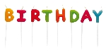 Set of Velas Happy Birthday Multicolour