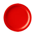 Platos 22.8cm Rojos de Carton * STOCK