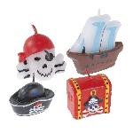 4 Vela mini figuras Pirates