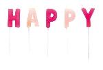 VELAS MINI ROSAS HAPPY BIRTHDAY