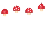 8 Vela mini figuras Fly Agaric