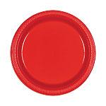 Platos 22.8cm Rojos de Plastico * STOCK