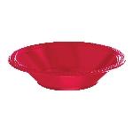 BOWL 355ml Rojo de Plastico * STOCK