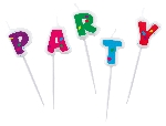 5 Vela mini figuras Ballon Party 2