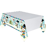 Mantel plast Joyful Snowman 1.37m x 2.59m