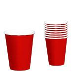 Vasos rojos - Vasos de papel para fiesta 266ml