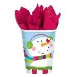 Vaso Joyful Snowman Paper Cups 266ml