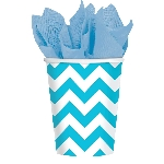 VASO 266ml: CHEVRON AZUL CARIBE