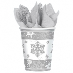 Vaso Sparkling Snowflake Paper Cups 266ml