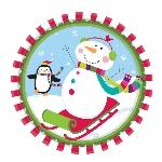 Plato 26.6cm Joyful Snowman Paper Plates 26.6cm