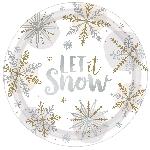 Plato 26.6cm met MET SHINING SNOW