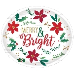 Plato 30.5cm Christmas Wishes Oval Plates 30cm