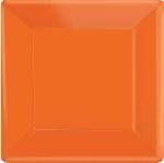 Plato 7 Cuadrado Naranja