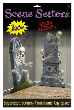 2 Decoracion escena de pared Graveyard Raiders 165 x 85 cm