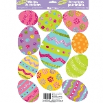 Glitter Vinyl Window Stickers Easter Eggs