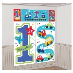 Decorado de pared All Aboard Birthday Scene Setters Kit