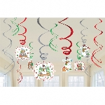 12 Swirl Decorations Winter Friends