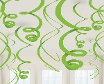 Decoracion Colgante Kiwi Green Plastic Swirl Decorations 55cm