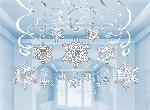 30 Swirl Decorations Snowflake61 cm/45.7 cm