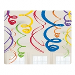 Decoracion Colgante Rainbow Hanging Swirls Decorations 55cm