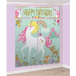 Decorado de pared Magical Unicorn Wall Decoration Kits with Photo Props