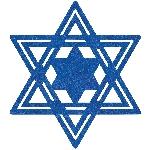 Tarjeta mesa Star of David Felt 40cm
